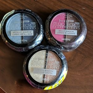 Loreal New 3 Eyeshadows